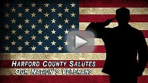 Harford County salutes our nations veterans with saluting soldier