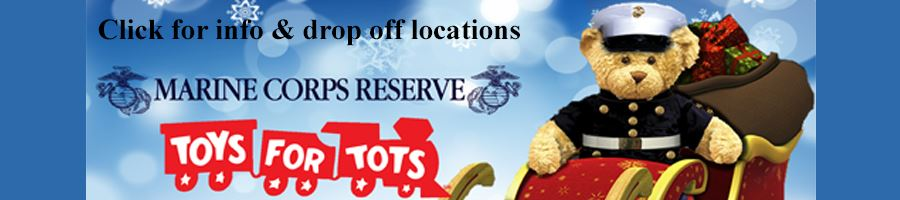 Toys for Tots Collection and Volunteer Information Button