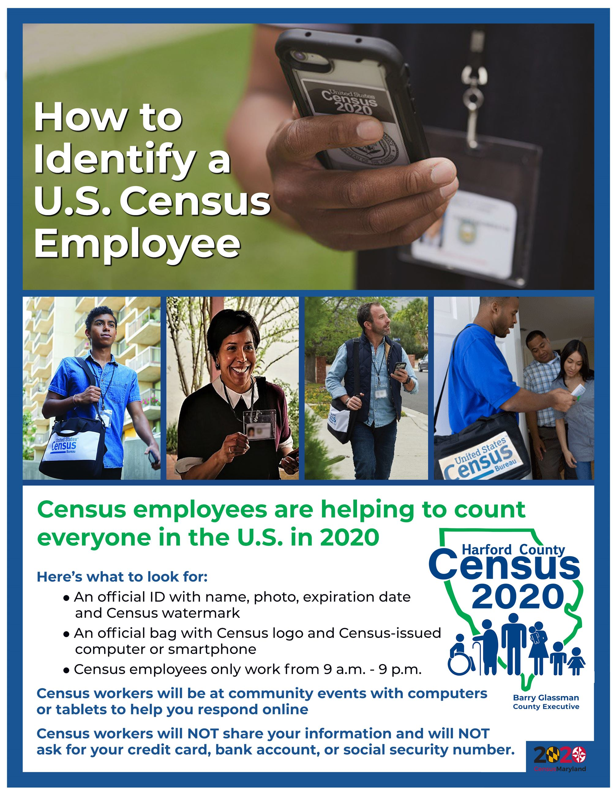 How to Identify a Census Employee flyer