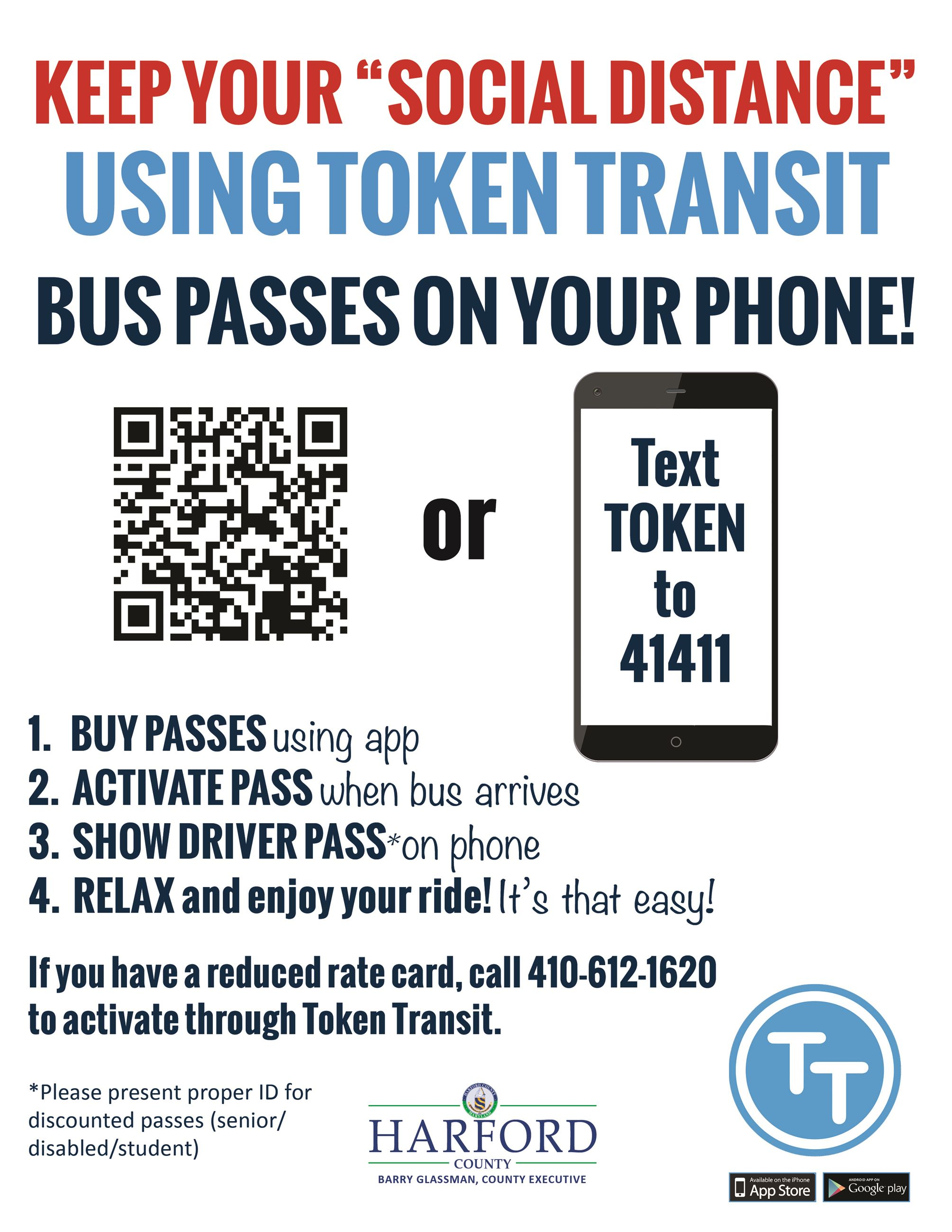 8.5x11 Touch Free Bus Fare Token Transit Sign2