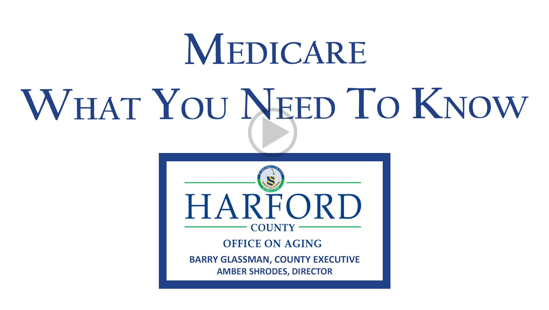 Medicare - What You Need to Know Play Video Button