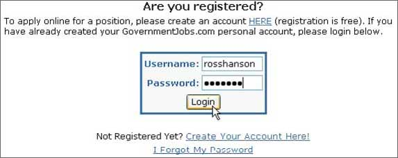 Are You Registered Login Screen