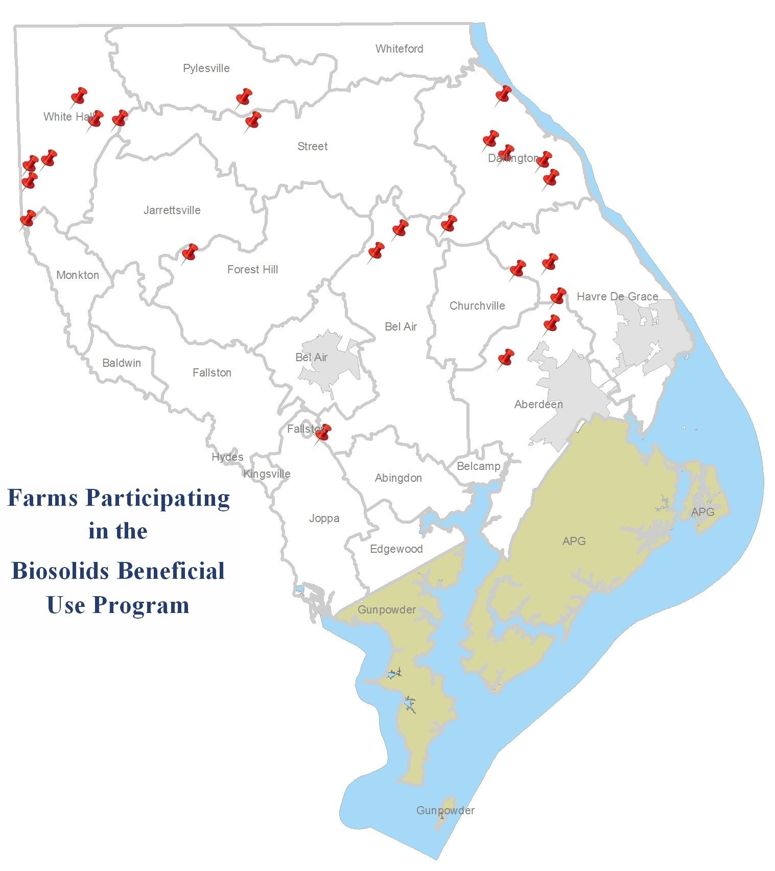 Biosolids Farm Map