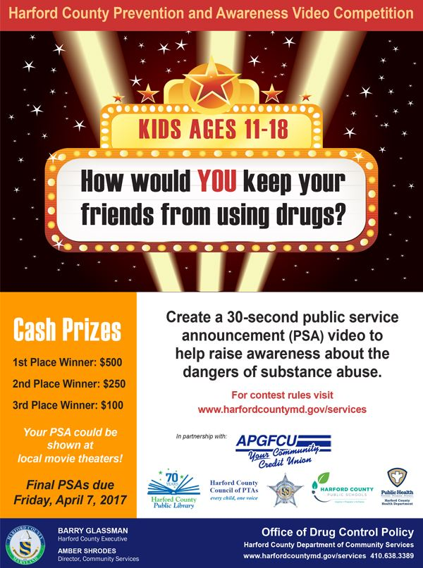 Anti-Drug PSA Competition Flyer